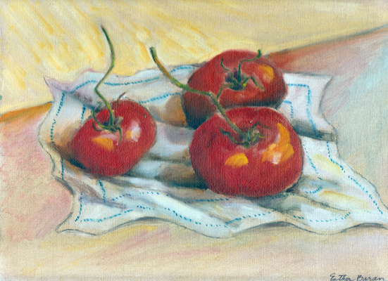 Esther Baran Artwork - Three Tomatoes - $475
