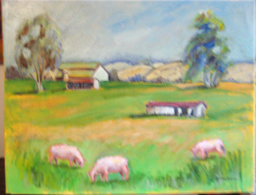 Esther Baran Artwork - Sonoma Sheep