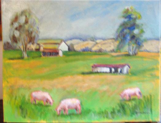 Esther Baran Artwork - Sonoma Sheep