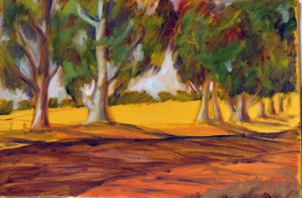 Esther Baran Artwork - Sonoma Trees