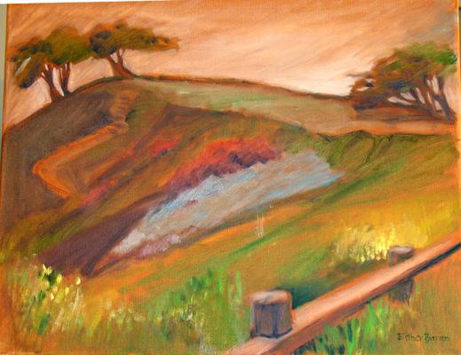 Esther Baran Artwork - Dusk on Billy Goat Hill