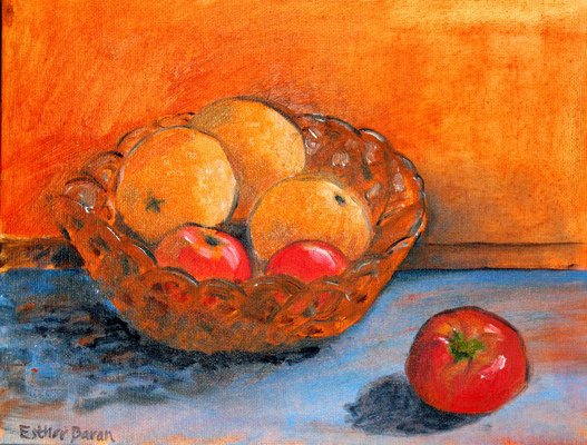 Esther Baran Artwork - Oranges and Tomato
