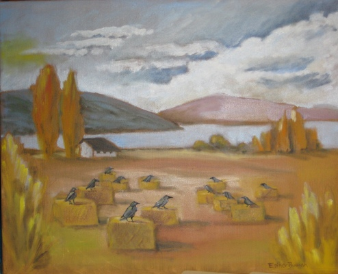 Esther Baran Artwork - Unkindness of Ravens