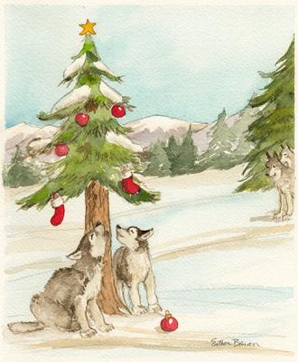 Esther Baran Artwork - Wolf Cubs