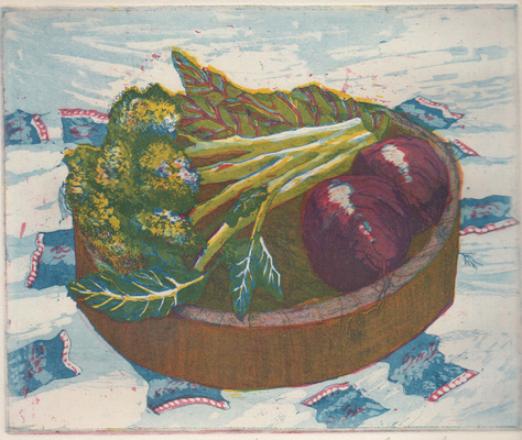 Esther Baran Artwork - B is for Broccoli - $280