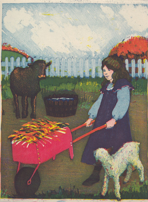 Esther Baran Artwork - Mary Feeds the Animals - $280