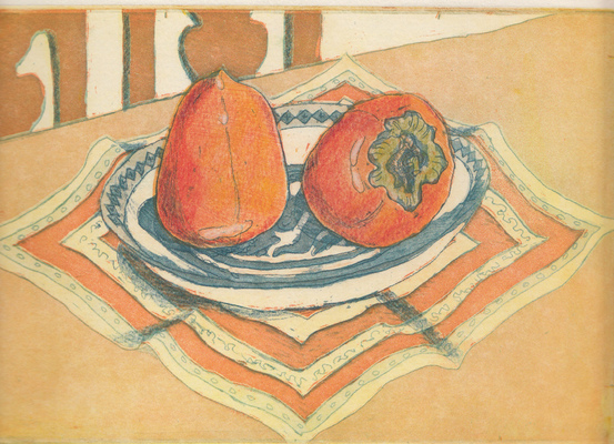 Esther Baran Artwork - Persimmons - $280