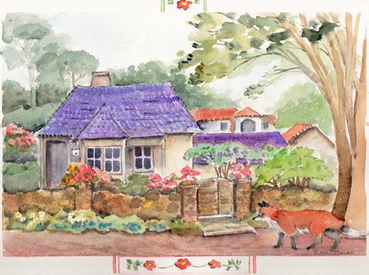 Esther Baran Artwork - Carmel Cottage - $470