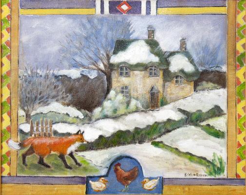Esther Baran Artwork - Winter Fox - SOLD