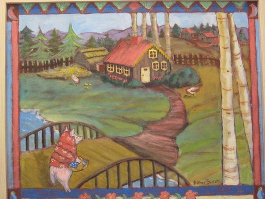 Esther Baran Artwork - Enchanted Pig - SOLD