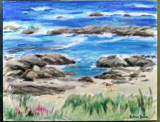 Esther Baran Artwork - Asilomar Beach Seascape II - $750