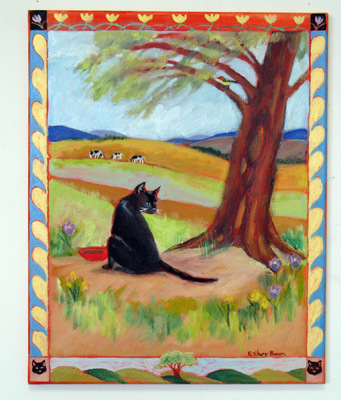Esther Baran Artwork - Cat Says Fiddle - $900