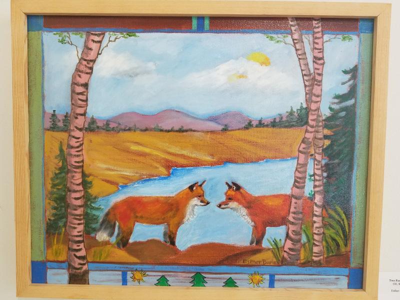 Esther Baran Artwork - Two Foxes Meet - $1000