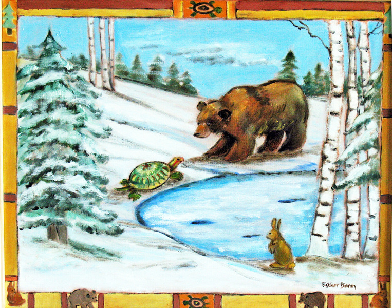 Esther Baran Artwork - Turtle and Bear - $1000