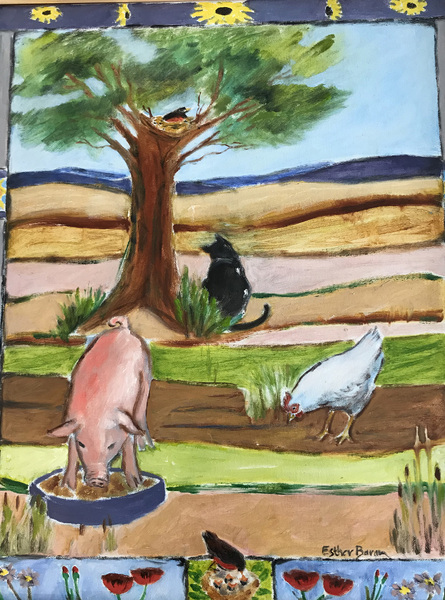 Esther Baran Artwork - I Fed My Pig - $1000