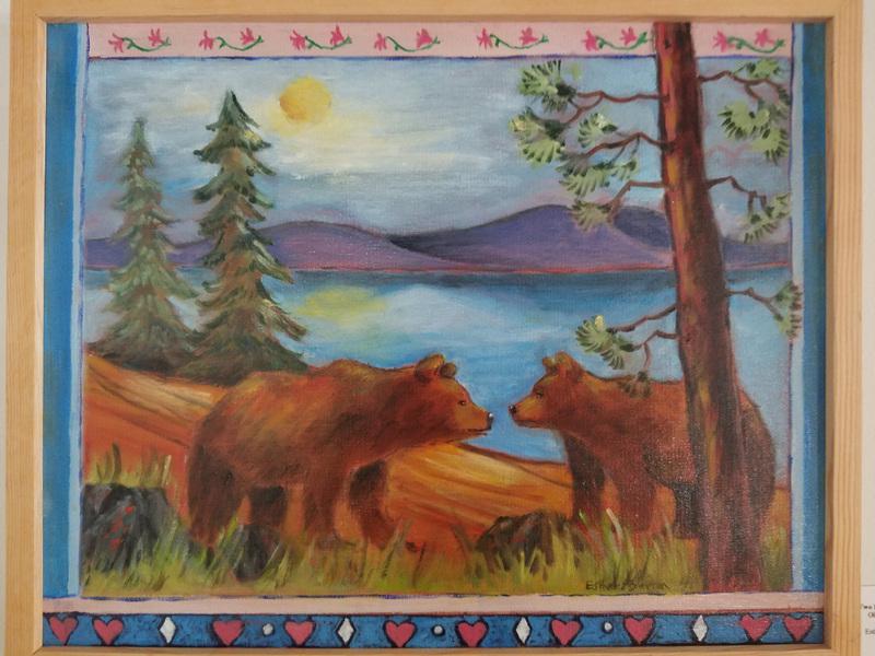Esther Baran Artwork - Two Bears Meet - $1000