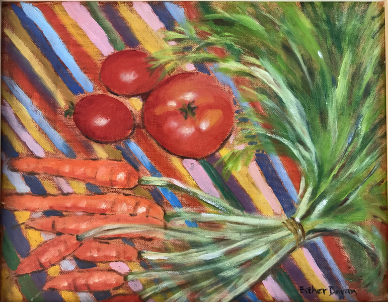 Esther Baran Artwork - Tomatoes and Carrots - $525