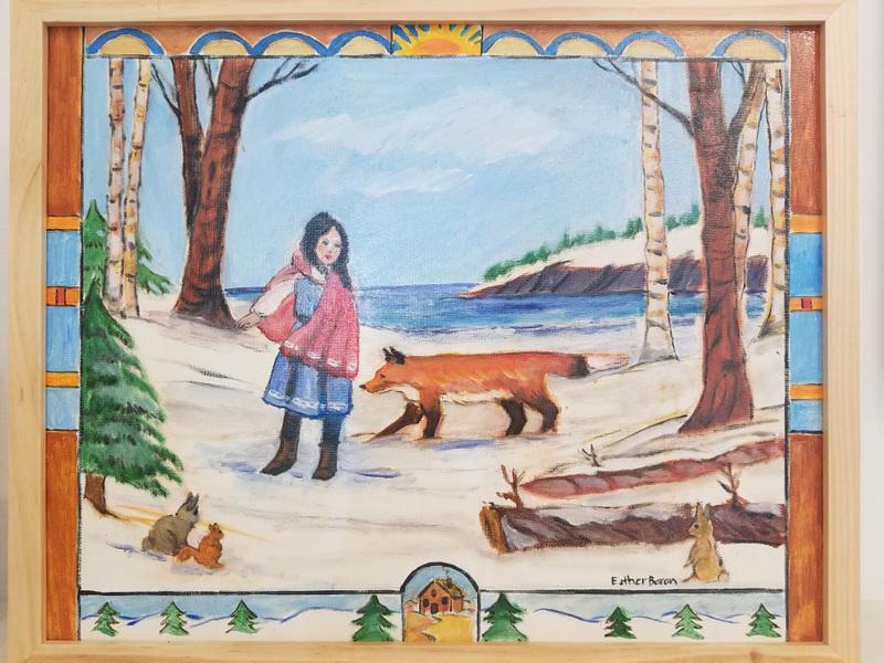 Esther Baran Artwork - Fox Helps Snowgirl - $1000