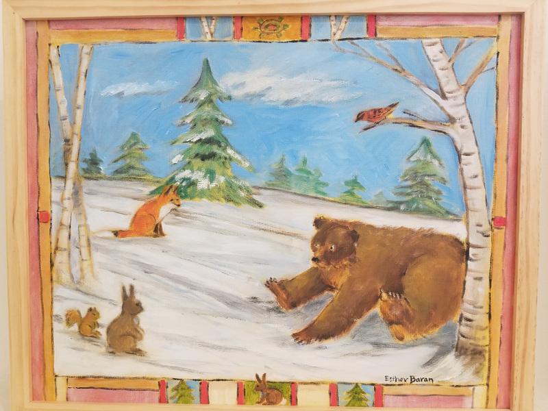 Esther Baran Artwork - Bear in Snow - $1000