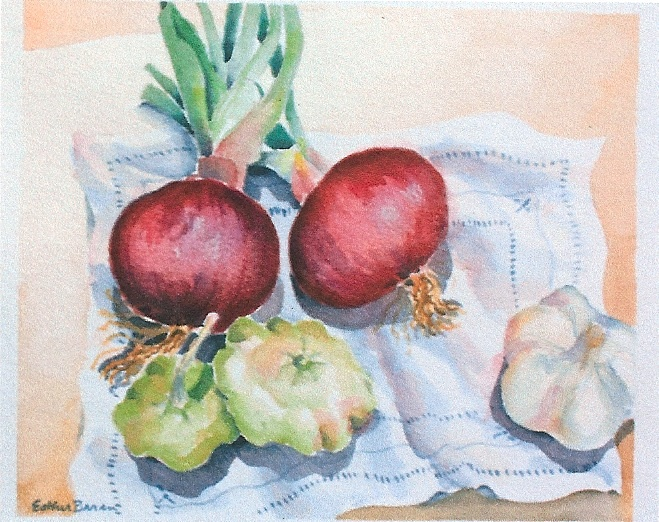 Esther Baran Artwork - Red Onions II - $350