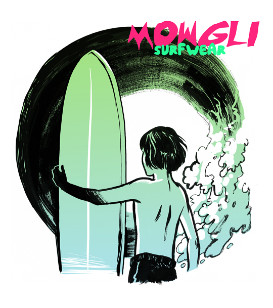 Veronica Fish | Illustration & Design - Mowgli Surfwear