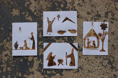 Women of Hope International - Greeting Cards - Banana Leaf Christmas Nativity