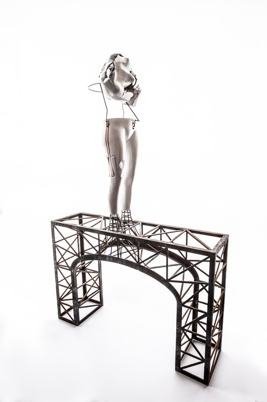 PHOTO SCULPTURE - Bridget Crash 1 (2013) Paper, Steel, Kevlar, Mixed Media
