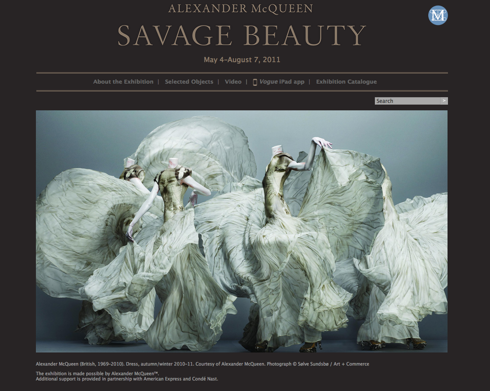 VM portfolio - Savage Beauty Book launch. NYC