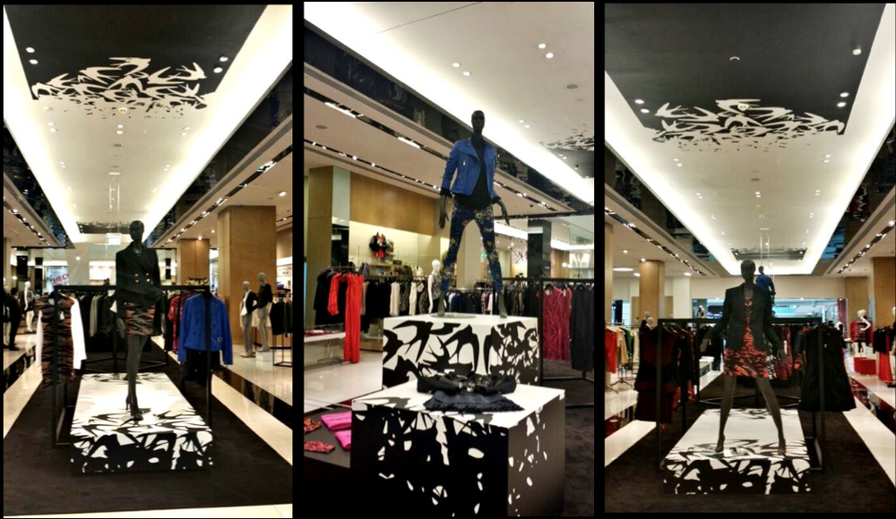 VM portfolio - Pop up. Bloomingdales Dubai
