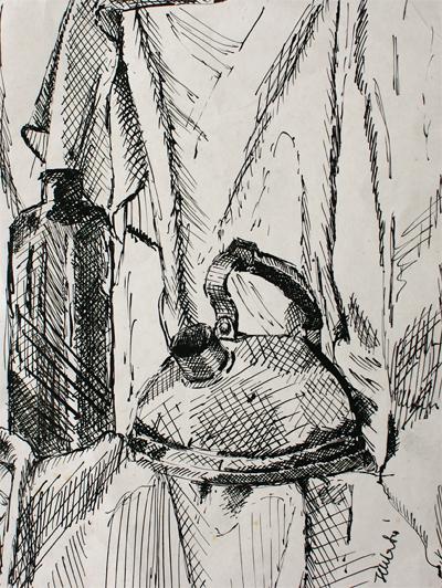 izabelalatos - Still life 017. 22 x 18 cm ink