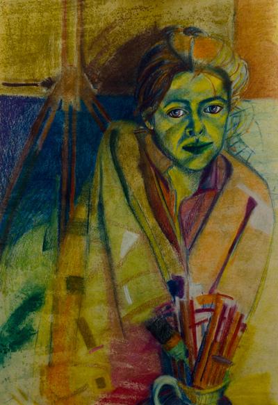 izabelalatos - Me 8. 100 x 55 cm pastels