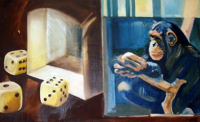 izabelalatos - Monkey 12. 90 x 130 cm oil on canvas