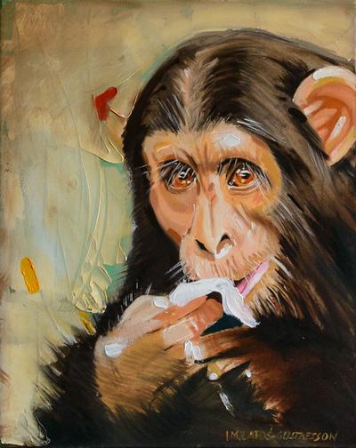 izabelalatos - Monkey 3. 50 x 40 cm oil on canvas