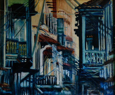 izabelalatos - Town. 70 x 50 cm oil on canvas