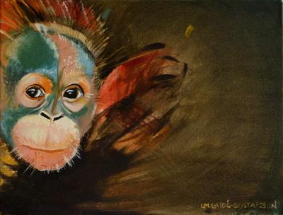 izabelalatos - Monkey 8. 30 x 40 cm oil on canvas