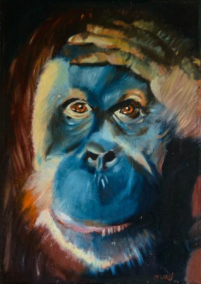 izabelalatos - Monkey 2. 70 x 50 cm oil on canvas