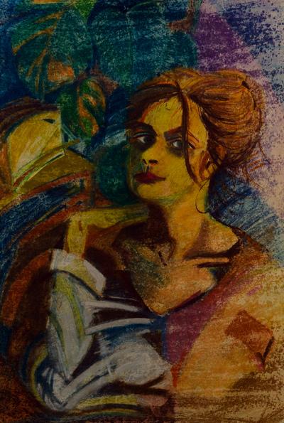 izabelalatos - Me 10. 100 x 55 cm pastels