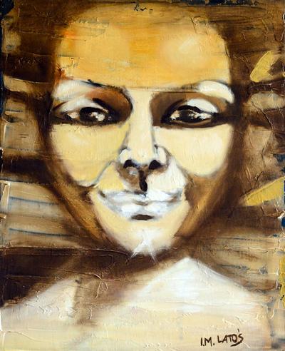 izabelalatos - Face 010. 46 x 38 cm oil on canvas