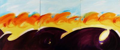 izabelalatos - The waves 13 Australia. oil on canvas