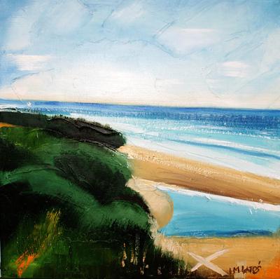 izabelalatos - Torquay 6 Australia. 40 x 40 cm oil on canvas