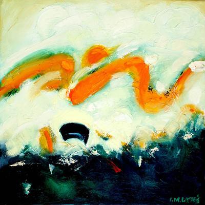 izabelalatos - Waves. Australia. 40 x 40 cm oil on canvas