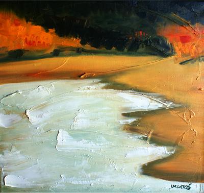 izabelalatos - Bells Beach. Australia. 40 x 40 cm oil on canvas