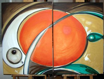 izabelalatos - Energi sources 3, 4. 100 x 80 cm oil on canvas
