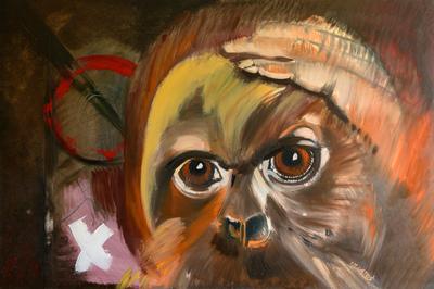 izabelalatos - Monkey 15. 80 x 120 cm oil on canvas