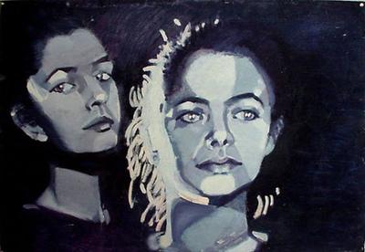 izabelalatos - Self portrait. 100 x 55 cm oil
