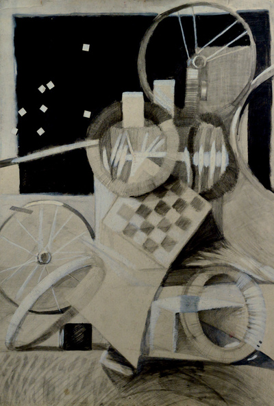 izabelalatos - Collage Black & White. 100 x 55 cm