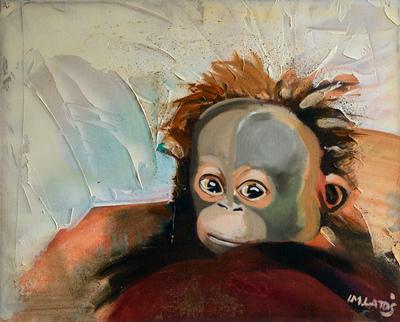 izabelalatos - Monkey 7. 40 x 50 cm oil on canvas