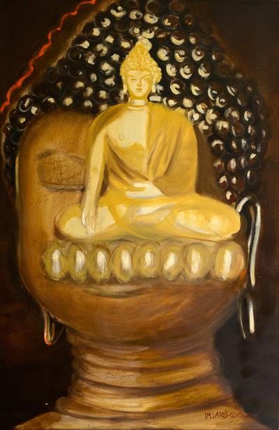 izabelalatos - Take your time, Buddha. 120 x 80 cm oil on canvas