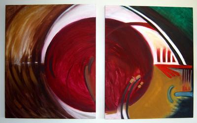 izabelalatos - Energi sources 1, 2. 100 x 80 cm oil on canvas
