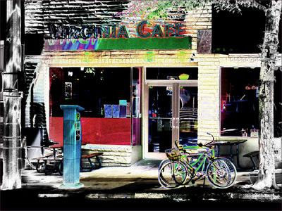 Museum Quality Photographic Art - 2010 Virginia Cafe in tattoo colors